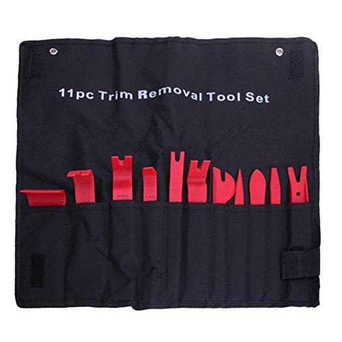 11Teile Auto Tür Trim Panel Formen Clip Halterung entfernen Pry Tool Kit + Canvas Tasche (Canvas Für Großhandel Taschen)