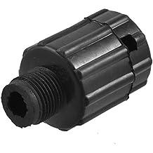 Amico 16 mm rosca macho Dia plástico Compresor de aire tapón de aceite negro