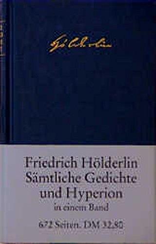 Sämtliche Gedichte und ›Hyperion‹