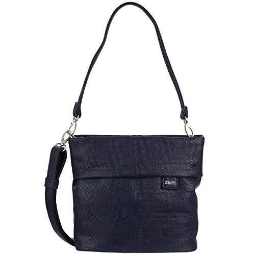 Zwei Tasche Handtasche Damen MADEMOISELLE M8 Kunstleder, Farbe:Canvas Night -