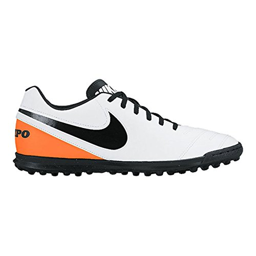 Nike Tiempox Rio Iii Tf, Chaussures de Football Homme Blanc Cassé - Blanco (White / Black-Total Orange)