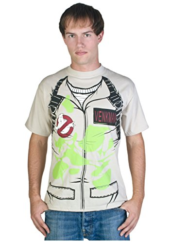 Ghostbusters Venkman Kostüm Glow in the Dark Khaki T-Shirt, X-Large (Ghostbusters Venkman Kostüm)
