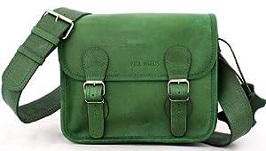 LA SACOCHE (S) BAMBOU bolsa verde, Bolso bandolera de piel (tamaño pequeño, estilo vintage), verde PAUL MARIUS Vintage & Retro