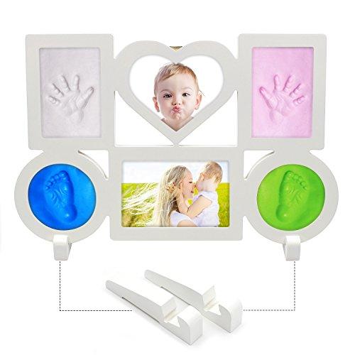 cornice-per-foto-con-4huellas-da-bambino-6-parti-per-raddrizzare-foto-e-impronta-colore-bianco