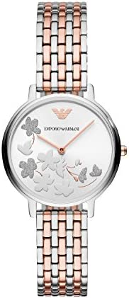 Emporio Armani Wrist Watch For Women, Rose Gold, AR11113