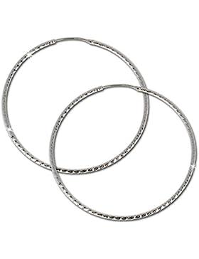 SilberDream Ohrringe–Ohrringe Schönheit Kreolische–925Sterling Silber für Frauen–SDO075