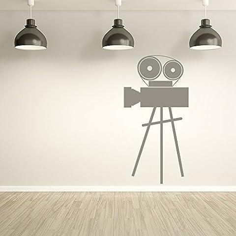 Filmkamera Wandaufkleber Retro Film Wandtattoo Schlafzimmer Wohnzimmer Wohnkultur verfügbar in 5 Größen und 25 Farben Groß Blatt Grün