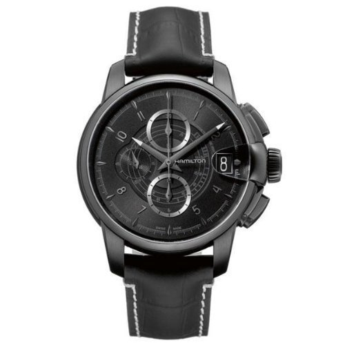 Hamilton Railroad Chronograph Black Dial Men's Watch - H40686335