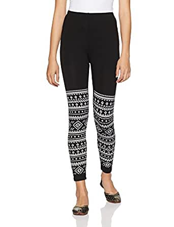 Jashn Women's Legging (AZTECSINGLE_Black_X-Large)