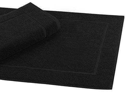 Betz Badvorleger Größe 50x70 cm 100% Baumwolle Badematte Badteppich Duschvorlage Premium Qualität 650 g/m² Farbe Schwarz