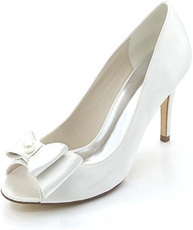 5e6155e399b979 L YC Women s Wedding Shoes Spring Fall Satin   Evening Evening Evening  Wedding Party Rhinestone pearl glitters B0776XLCFF Parent 6c722b