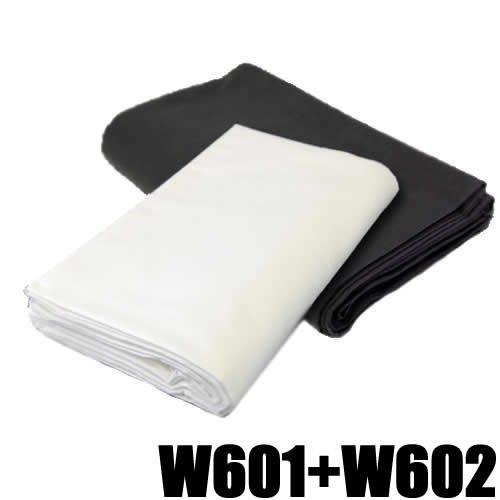 DynaSun 15231 W601+W602 2x Fotostudio Stoff Hintergrund weiß/schwarz