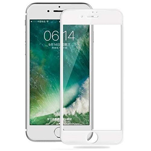 Market Affairs Full Glue 5D Curved Edge 9H Hardness Tempered Glass Protector for Apple iPhone 6/6s (White)