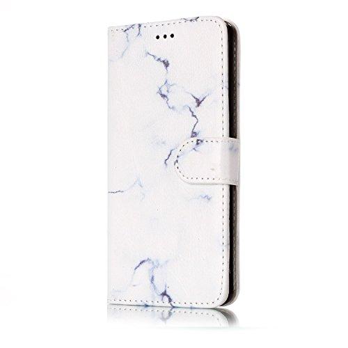 Für Huawei P8 Lite Horizontale Flip Case Cover Luxus Blume / Marmor Textur Premium PU Leder Brieftasche Fall mit Magnetverschluss & Halter & Card Cash Slots ( Color : D ) D