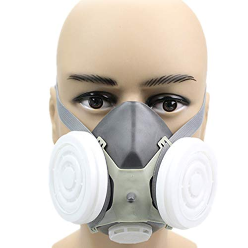 Polvere Maschera non tossico Mask traspirante Maschera Maschera industriale Valvola di esalazione mezza maschera antipolvere particella maschera Maschera antigas