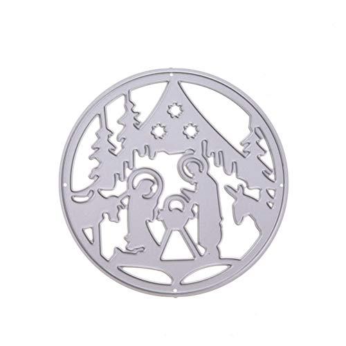 Healifty Metallstanzform DIFreedom Hope DIY Scrapbooking Prägung Album Papier Karten Basteln Stanzform Handwerk Werkzeug (Xmas Type) -