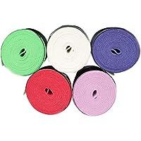 LIOOBO 5pcs Badminton Racket Sweatband Absorben la Humedad Anti-Slip Overgrip Soft Tape para Tenis Badminton Racket Bike Bar (Color Mezclado)