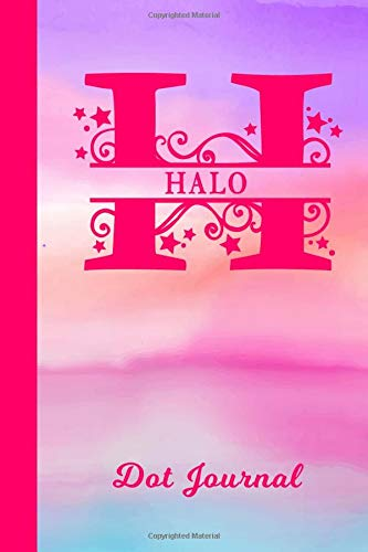 Halo Dot Journal: Personalized Custom First Name Personal Dotted Bullet Grid Writing Diary | Cute Pink & Purple Watercolor Cover | Daily Journaling ... Write about your Life Experiences & Interests
