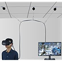 MIDWEC New Versión VR Retractable Cable Management System for HTC Vive Virtual Reality de auricular No More Worries about the Wire, Moving freely in the VR Game TG- Adhesive Drill Free (Nueva versión)