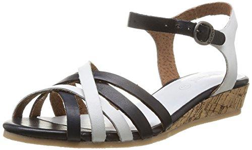 Kickers Sandali Cocoli Donna Cinturino Alla Caviglia Con Zeppa Nero (noir Blanc)