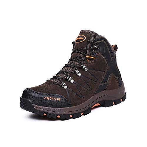 Ytt Scarpe Trekking, Antiscivolo Ultraleggero Traspirante Basso, Adatto per La Corsa Escursionismo Campeggio Sport Sfide Estreme,Brown,UK6.5/EU40
