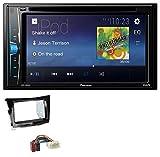 caraudio24 Pioneer AVH-A100DVD AUX USB 2DIN MP3 DVD CD Autoradio für SSangYoung Tivoli ab 15 Piano-schwarz