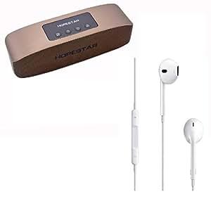 Combos of Hopestar boombox Speaker & Apple Ear Phone Compatibile With all Bluethooth Mobile Phone & Intex Aqua Dream