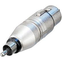 Neutrik NA2FPMM RCA XLR Plata adaptador de cable - Adaptador para cable (RCA, XLR, Plata)