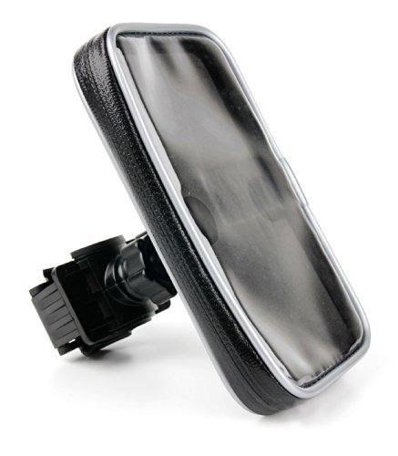 DURAGADGET-Lenkerhalterung zum Anbringen am Kinderwagen, Buggy oder Fahrrad für Ihr Cyrus CS20 | cm 16 | cm 15 | cm 7 Smartphone. Mit wasserabweisender Schutzhülle