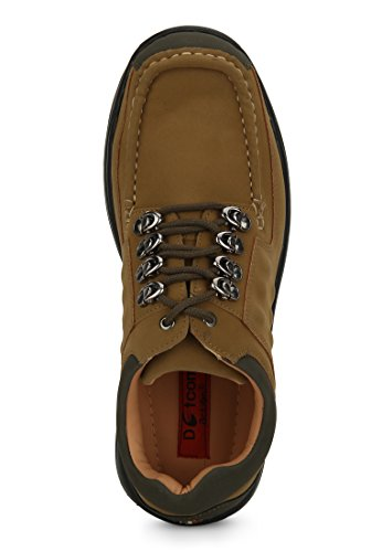 Action Shoes Men's Camel Unbook Leather Cloth Casual Shoes 6 UK