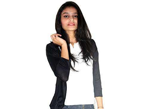 Stylist Layer Black Short Women's Cotton Shrug (Black)  available at amazon for Rs.275