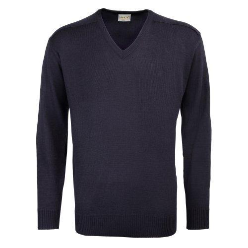 RTY Workwear Herren Acryl-Pullover mit V-Ausschnitt (Xlarge) (Marineblau) (Acryl-pullover Mit V-ausschnitt)