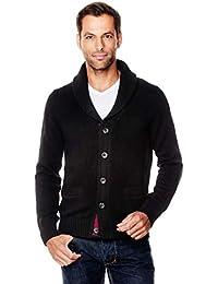 d222e1d7f61475 Vincenzo Boretti Herren-Pullover Schalkragen Slim-fit tailliert  Strick-Pullover einfarbig Baumwolle-Mix edel elegant…