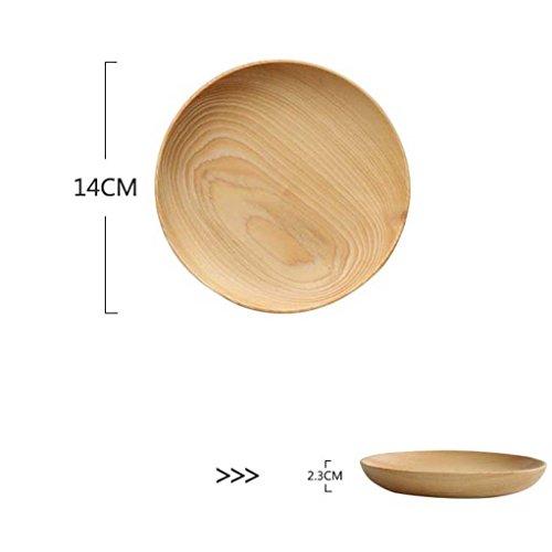 shop Japanisch-Stil Holz flach-Boden Kiefer Platte, einfache kleine Schüssel, kreative Obstteller, Holzplatte, getrocknete Obstteller, Dessertteller Schälchen (größe : M)