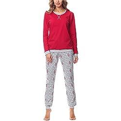 Merry Style Pijama para Mujer MS10-168 (Rojo Oso, XXL)