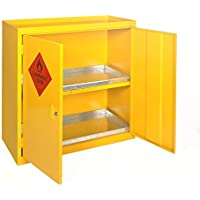AES p.4250vernice e armadio con mensola, 915mm di lunghezza x 915mm altezza x 457mm larghezza, giallo brillante