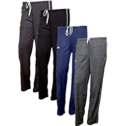 IndiWeaves Women's Premium Cotton Lower with 1 Zipper Pocket and 1 Open Pocket(Pack of 4)_Brown::Blue::Grey::Grey-38