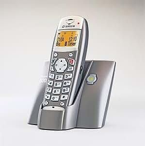 Sagem Téléphone sans fil D30T DECT/GAP Métal