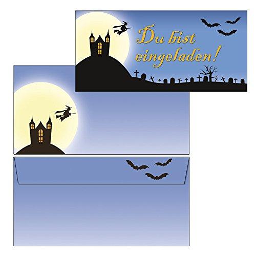 Einladungskarten Halloween- Gruselparty 1556