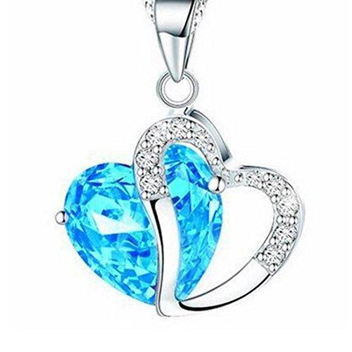 SanKidv Perle Halskette Herz Damen Perle Anhänger Hochzeitsperle -