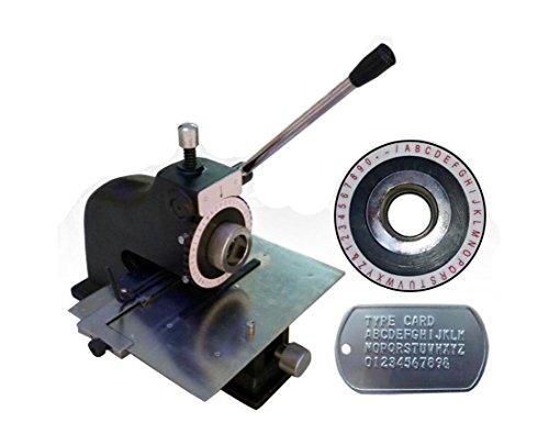 Manuelle Metallprägemaschine Prägemaschine Prägemaschine Dog Tag Metall Stamping Marking Maschine -