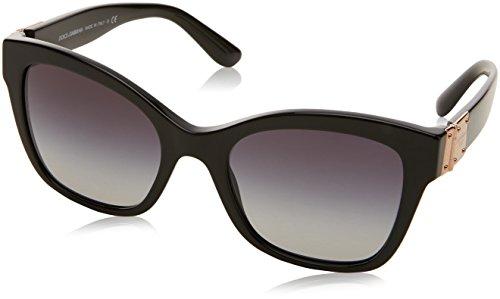 Dolce & Gabbana Damen 0DG4309 501/8G 53 Sonnenbrille, Schwarz (Black/Gradient)