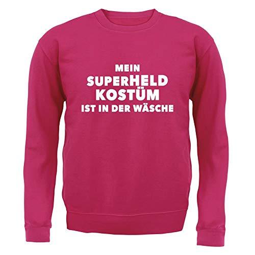 Kostüm Jahre Superhelden 11 - Dressdown Mein Superheld Kostüm Ist in Der Wäsche - Kinder Pullover/Sweatshirt - Pink - XL (9-11 Jahre)