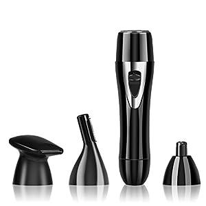 Foraco Nasenhaarschneider, USB Wiederaufladbar Elektrischer Nasenhaartrimmer/Ohrhaarschneider mit Rasieraufsatz