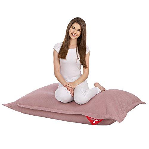 QSack Kindersitzsack Indy, inkl. Sitzsack Inlett und deutsche Qualitätsfüllung EPS HBCD frei, Indoor Sitzsack 100x140 cm, (rosa)