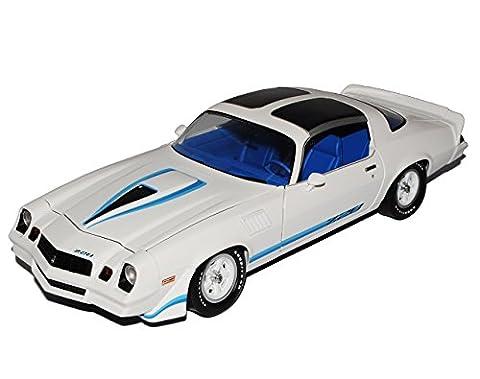 Chevrolet Camaro Z28 Weiss mit Blau 2. Generation 1970-1981 1/18 Greenlight Modell Auto (1980 Chevrolet)