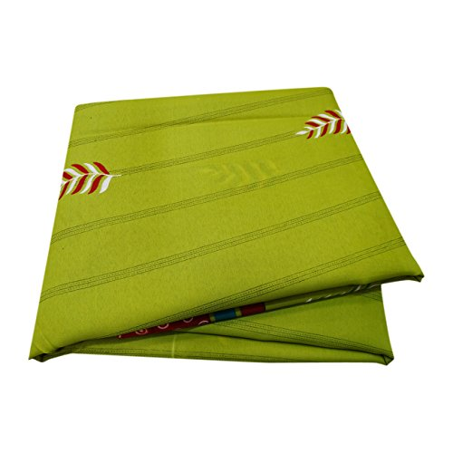 PEEGLI Frauen Jahrgang Gedruckt Sari Grün Seide Mischung DIY Recycelt Vorhang Drapieren Stoff Indischen Saree (Drapieren Vorhang Sari)