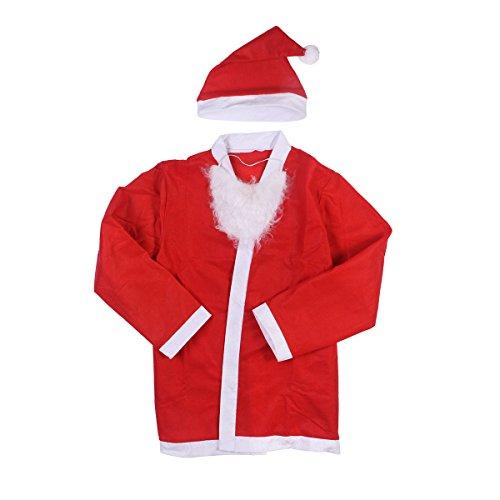 Imagen de disfraz de papá noel, tinksky set traje de santa claus para adultos alternativa