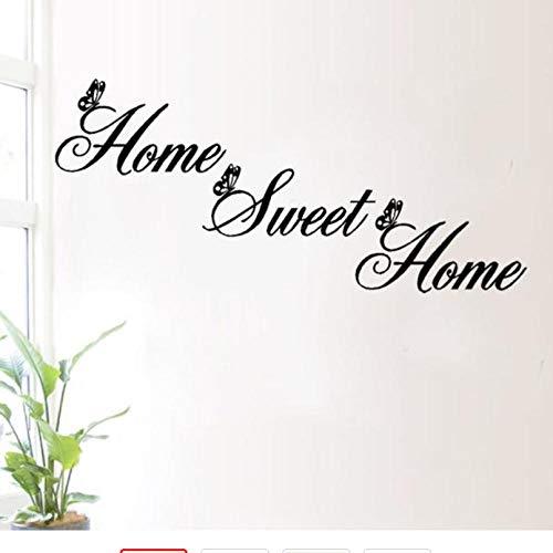Home Sweet Home Decor Wandaufkleber Abnehmbare Art Vinyl Wandaufkleber Kunst Neue Dekoration anhänger Modern Home 25 * 55 cm -