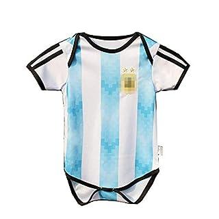 Daoseng Newborn Kids Baby Girls Boys Summer Football National Team Jumpsuit Clothes Romper (AGT, 12#Height 72-78cm)